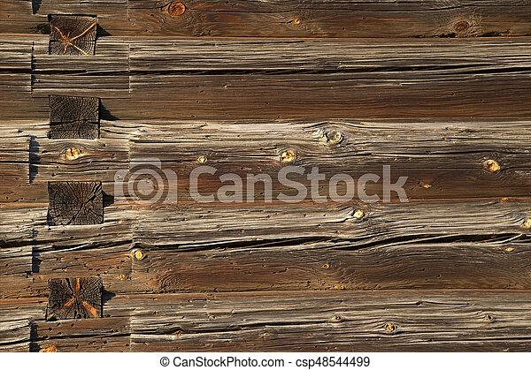 house., bois, vieux, journaux bord, texture - csp48544499
