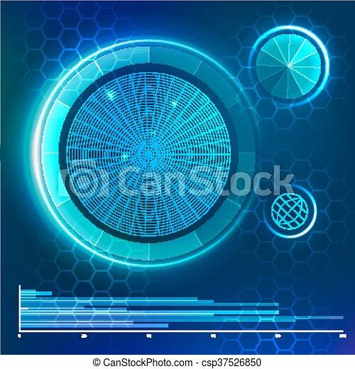 hud, futuriste, vecteur, utilisateur, interface., element. - csp37526850