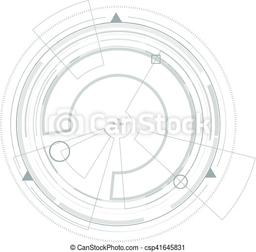 hud., graphic., virtuel, interface utilisateur, futuriste - csp41645831