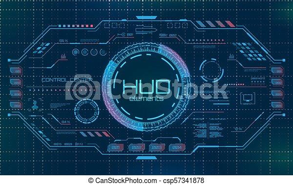 hud, graphique, virtuel, éléments, interface, futuriste, utilisateur - csp57341878