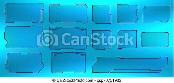 hud, interface, écran, utilisateur, futuriste - csp70751903