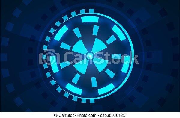 hud, sci, interface utilisateur, fi, futuriste - csp38076125