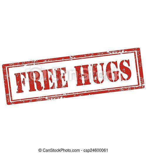 hugs-stamp, gratuite - csp24600061