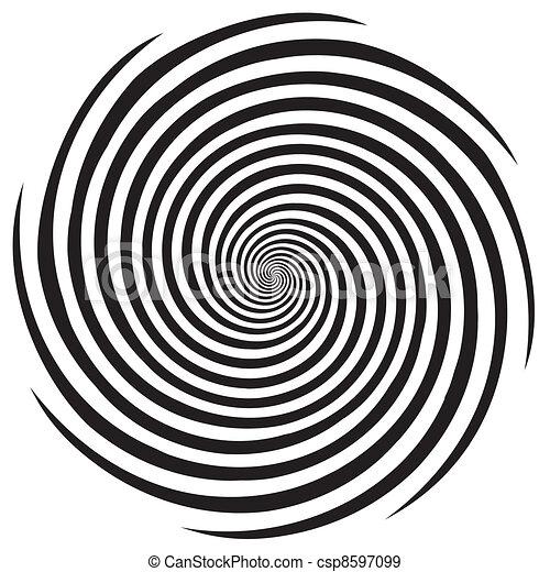 hypnose, conception, modèle spirale - csp8597099