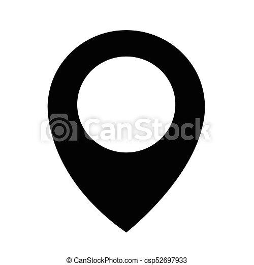 icône, épingle, emplacement - csp52697933