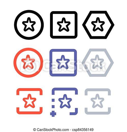 icône, étoile - csp84356149
