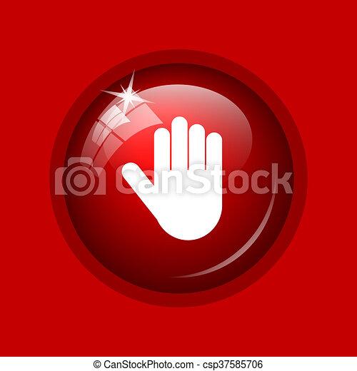 icône, arrêt - csp37585706