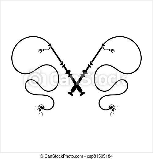 icône, fouet, icône, équitation - csp81505184