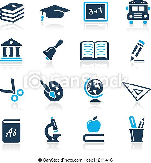 icônes, azur, série, //, education - csp11211416