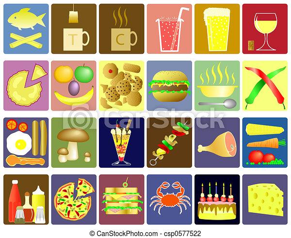 icônes nourriture - csp0577522