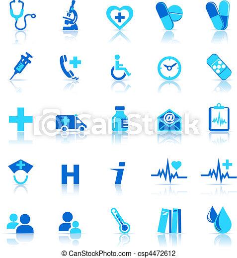 icônes, soin, santé - csp4472612