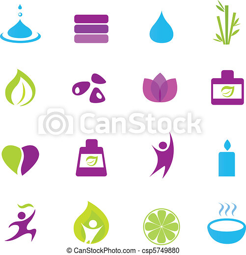 icônes, zen, wellness, eau - csp5749880