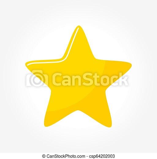 icon., étoile, jaune - csp64202003