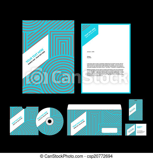 identité corporation, gabarit - csp20772694