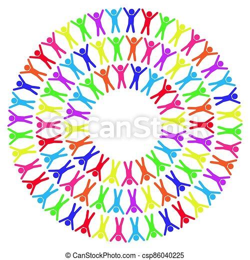 illustration, autour de, gens, mondiale, coloré, vecteur - csp86040225