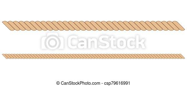 illustration, corde, blanc, isolé, fond, vecteur - csp79616991
