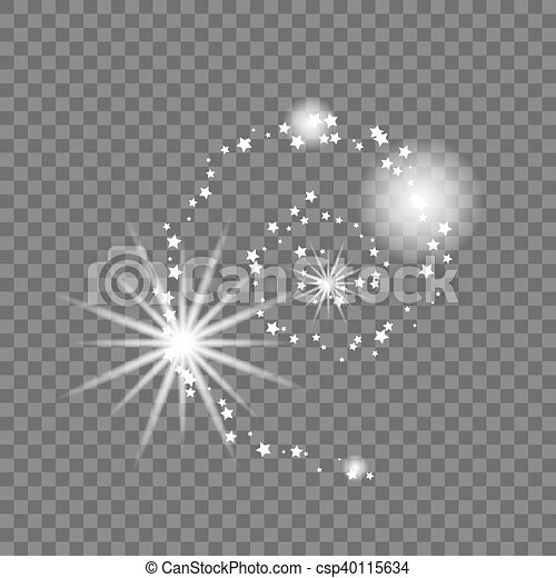 illustration., résumé, forme., vecteur, manière, laiteux, galaxie - csp40115634