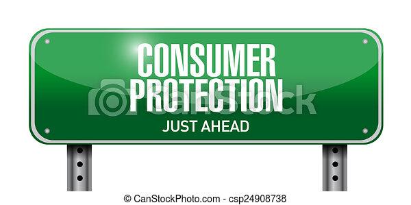 illustration, signe, protection, conception, consommateur, route - csp24908738