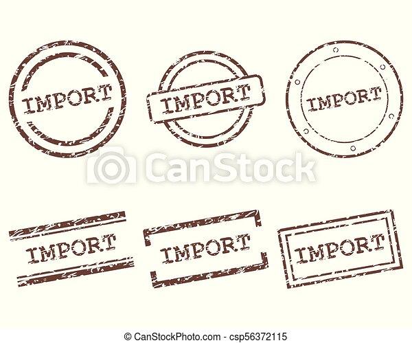 importation, timbres - csp56372115