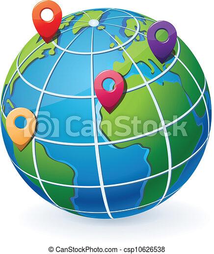 indicateurs, globe, emplacement - csp10626538