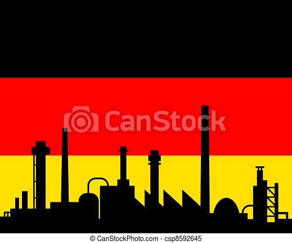 industrie, drapeau allemagne - csp8592645