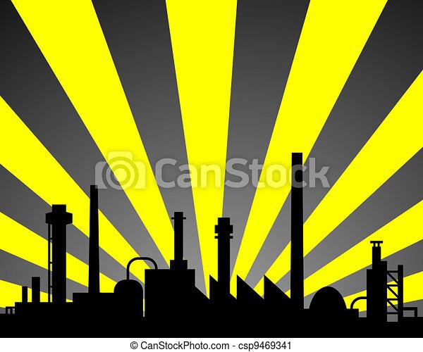 industriel, fond - csp9469341