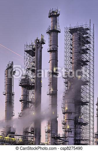 industriel, scène, nuit - csp8275490