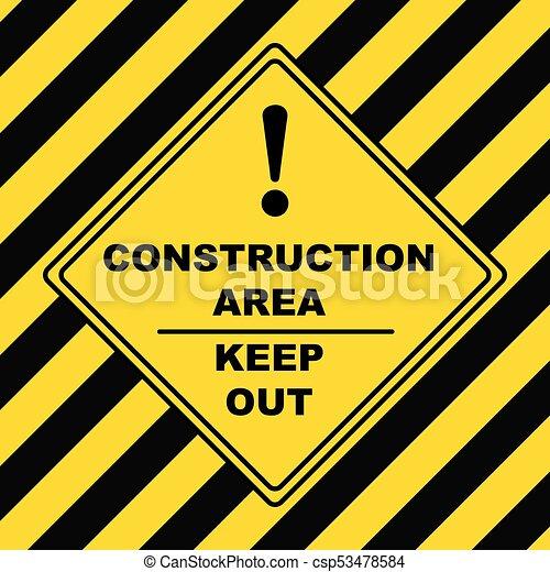 industriel, symbole, construction, -, zone - csp53478584