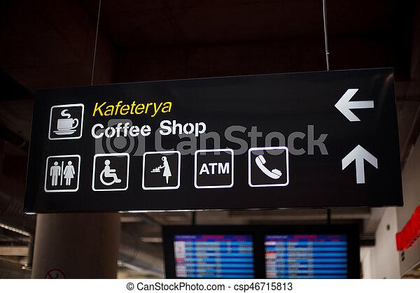 information, aéroport, planche - csp46715813
