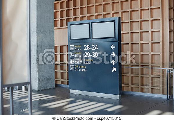 information, aéroport, planche - csp46715815