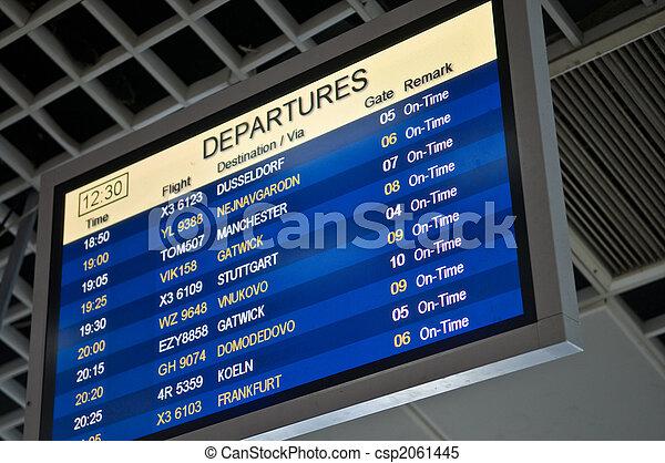 information, aéroport, planche - csp2061445