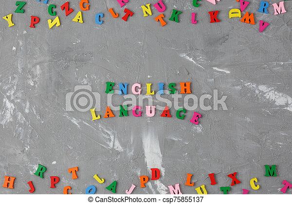 inscription, coloré, lettres, anglaise, bois - csp75855137
