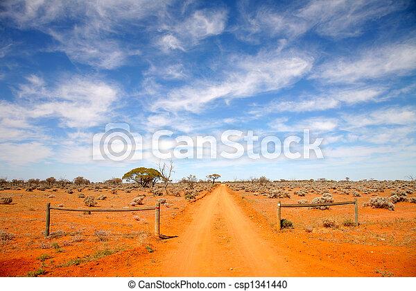 intérieur, australie, route - csp1341440