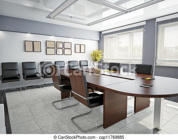intérieur, bureau - csp11769885