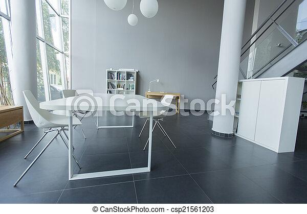 intérieur, moderne, bureau - csp21561203