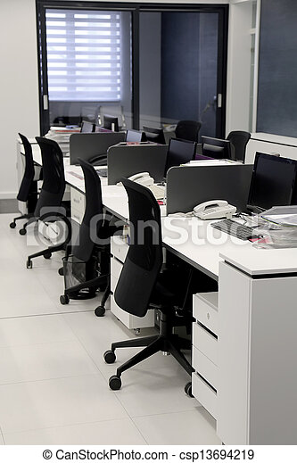 intérieur, moderne, bureau - csp13694219