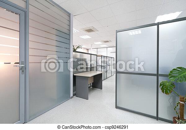 intérieur, moderne, bureau - csp9246291