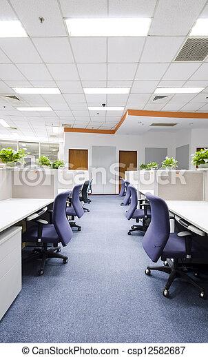 intérieur, moderne, bureau - csp12582687