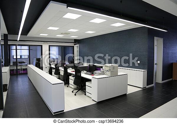 intérieur, moderne, bureau - csp13694236