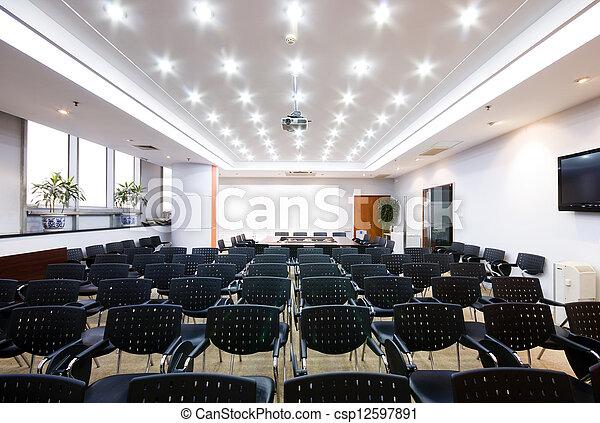 intérieur, salle réunion, moderne, bureau - csp12597891