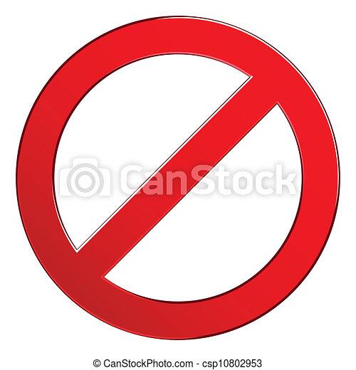 interdit, signe - csp10802953