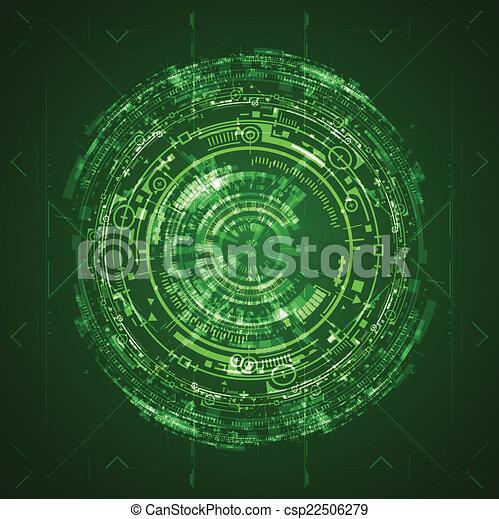 interface, graphique, utilisateur, futuriste - csp22506279