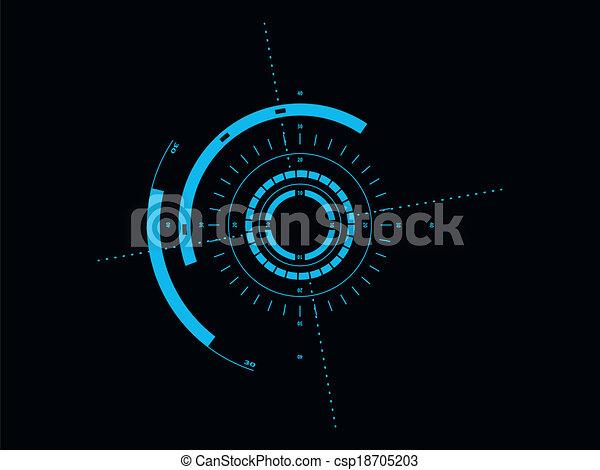 interface, hud, utilisateur, futuriste - csp18705203