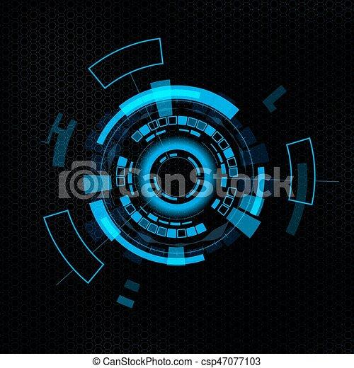 interface, hud., utilisateur, futuriste - csp47077103