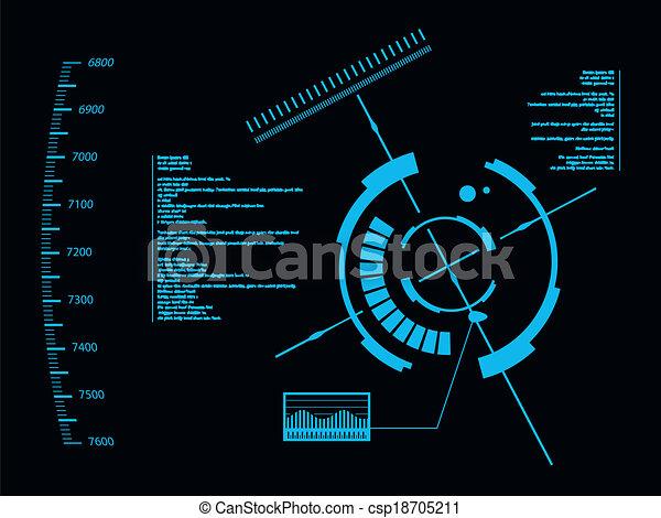 interface, hud, utilisateur, futuriste - csp18705211