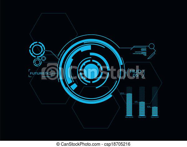 interface, hud, utilisateur, futuriste - csp18705216