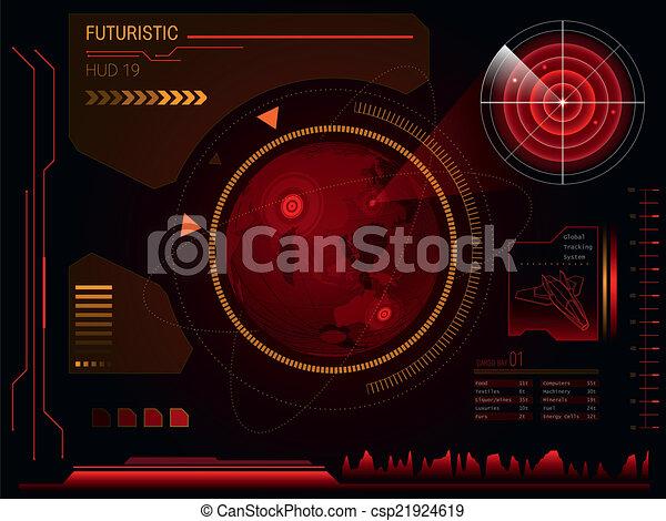interface, hud, utilisateur, futuriste - csp21924619