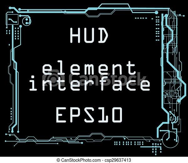 interface, hud, utilisateur, futuriste - csp29637413