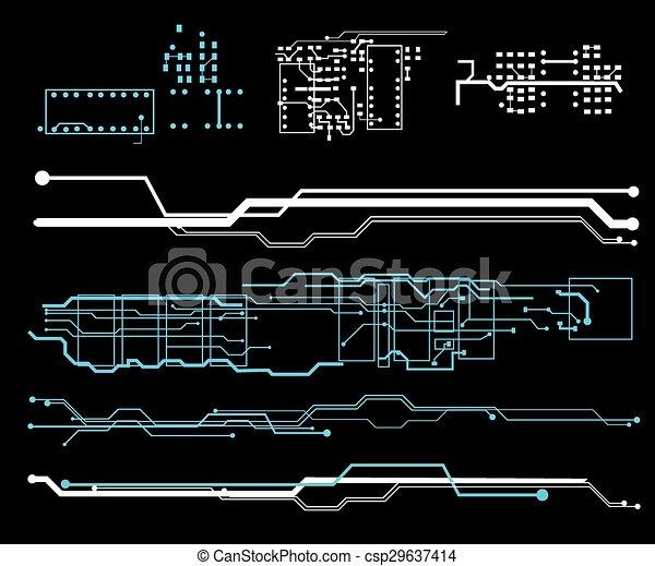 interface, hud, utilisateur, futuriste - csp29637414