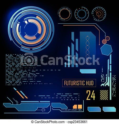 interface, hud, utilisateur, futuriste - csp23453661